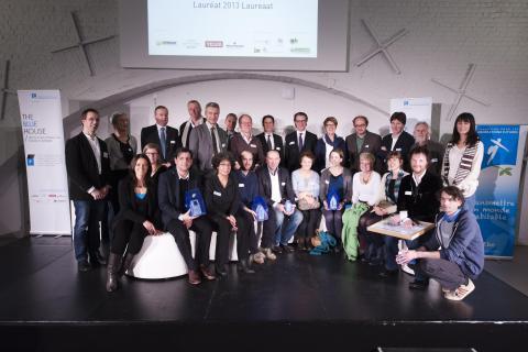 Le lauréat, les finalistes, le jury et les partenaires THE BLUE HOUSE/2013